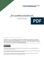 ZANELLA. Ética e Paradigmas Na Psicologia Social
