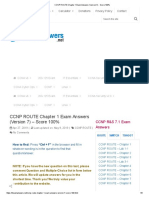 CCNP ROUTE Chapter 1 Exam Answers Version 7 Score 100