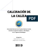 CALCINACIÓN DE LA CALIZA