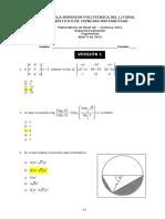2012 - Invierno Matematicas 0A Ingenierias v1 2da_evaluacion
