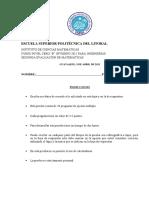 2012 - Invierno Matematicas 0B Ingenierias v0 2da_evaluacion