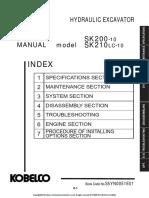 Kobelco SK 200 10 manual