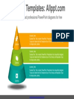 3 Stages Pyramid PowerPoint Diagram Template