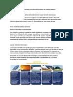 Perú Fuente de Energía Natural Recursos Renovables No Convencionales