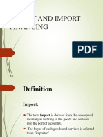 Export and Import Finance