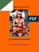 Quelques Oeuvres de Sri Shankaracharya