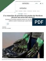E Se Manchas de Petróleo Nas Praias Do Nordeste Fossem Um Aviso Dos Deuses_ _ Opinião _ EL PAÍS Brasil