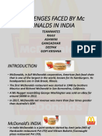 Challenges Faced by Mc Donalds in India 2