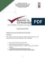 UFOP Prova Processo Seletivo 2015 02