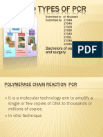 Pcr and Types of Pcr