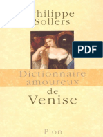Dictionnarie amoureux - Sollers