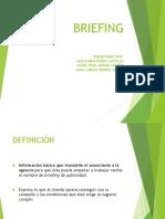 """Evidencia 10 """"Briefing"""""""