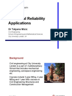 Introduction to Structural Reliability - CityU