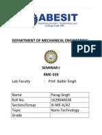 Nanotechnology Report