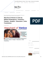 Merchant of Venice in Urdu by William Shakespeare _ Summary - Themes - Analysis - Characters _ Urdu Translations.pdf