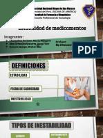 Estabilidad de Medicamentos Expo Fiqui