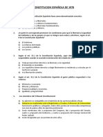 Constitucion Española Preguntas Examenes