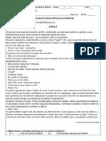 Avaliação Portugues 6º Ano 3º Bimetre