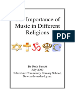 Importance of music in different religions