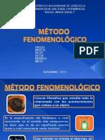ACERCAMIENTO AL ESTUDIO DEL MÉTODO FENOMENOLÓGICO