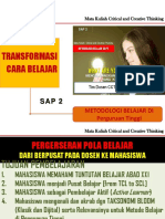 [SAP 2] Metodologi Belajar Di Perguruan Tinggi (2017)