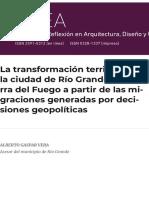 La transformación territorial de la ciudad de Río Grande en Tierra del Fuego