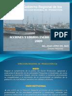 Acciones y Logros 2009 - Produccion