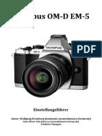 Einstellungsfuehrer Olympus OM-D EM-5