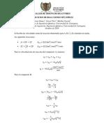 Taller de Diseño de Reactores - Reacciones Multiples