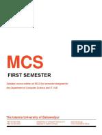 MCS 1st Semester
