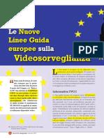 Le Nuove Linee Guida europee sulla Videosorveglianza