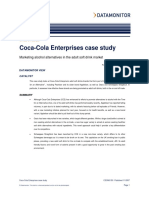 Coca Cola Enterprises Case Study