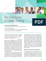 The Emportant of Critical Thinking