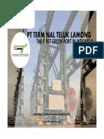 Terminal Teluk Lamong Indonesias First Green Container Terminal - Agung Kresno Sarwono