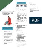 Conjunto de Actuaciones y Técnicas Que Permiten La Atención Inmediata de Un Accidentado