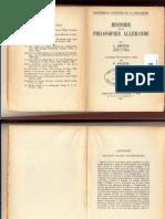 Ricoeur - Histoire de la Philosophie Allemande