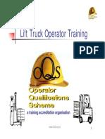 Lift truck operator training