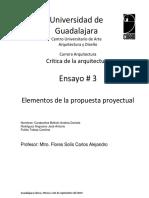 Ensayo 3 Elementos Proyectuales