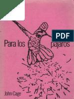 Para los pájaros - John Cage