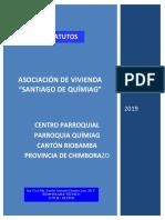 Estatutos de La Asociación de Vivienda Santiago de Químiag