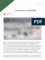 30 Years, 30 Lessons in Leadership - Dan Greene - Medium