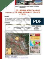 Reporte Complementario n 2869 20nov2019 Desborde de Laguna en El Distrito de Ananea Puno1