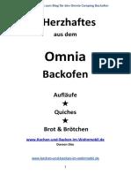Kochbuch Ohne Bilder Herzhaftes Aus Dem Omnia Camping Backofen