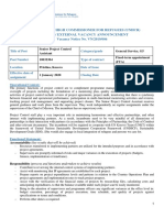 VN 2019 006 Internal - External Vacancy - Senior Project Control Assistant | United Nations High Commissioner for Refugees