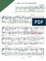 Reger Fughette Ueber Das Deutschlandlied for Piano RGA