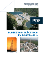 Subsector Eléctrico en Guatemala