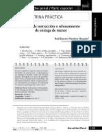 DELITO DE SUSTRACCION O REHUSAMIENTO DE ENTREGA DE MENOR DE EDAD - ART. 147 CODIGO PENAL  - RAUL MARTINEZ HUAMAN