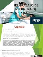 Ley Del Trabajo de La Enfermera(o) n 27669