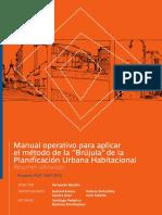 """Manual Operativo para aplicar el método de la """"Brújula"""" de la Planificación Urbana-Habitacional"""