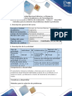 Guía de Actividades y Rúbrica de Evaluación - Tarea 4 - Describir Métodos Para La Solución de Problemas Desde La Profesión
